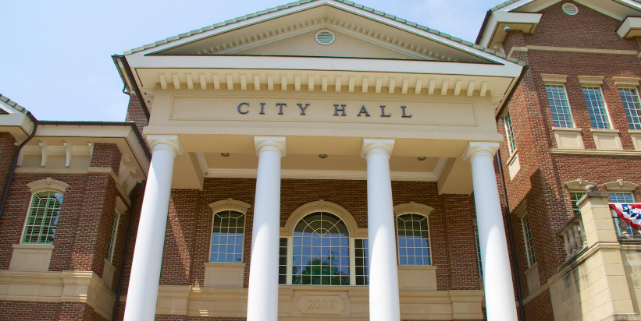 City Hall where local government decides on property tax rate change